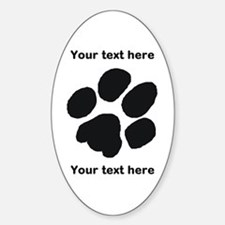 Pawprint - Customisable Sticker (Oval)