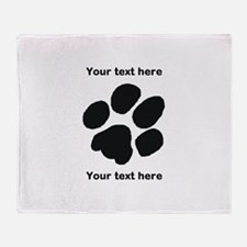 Pawprint - Customisable Throw Blanket