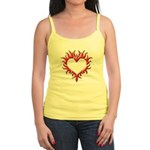 Tribal Heart (Red 3D) Jr. Spaghetti Tank