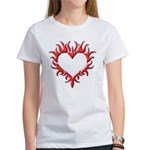 Tribal Heart (Red 3D) Women's T-Shirt