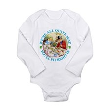 WE'RE ALL MAD - RENE C Long Sleeve Infant Bodysuit
