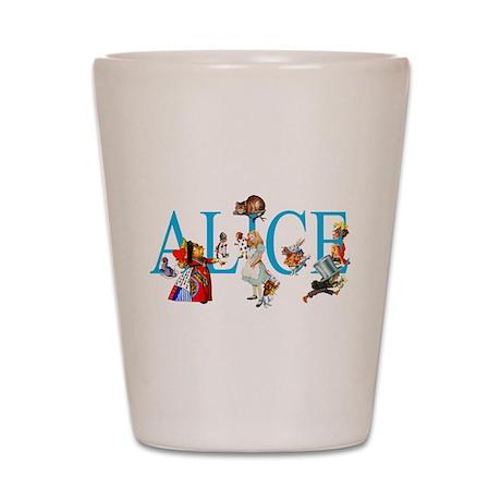 ALICE & FRIENDS IN WONDERLAND Shot Glass