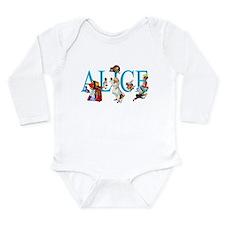 ALICE & FRIENDS IN WON Long Sleeve Infant Bodysuit