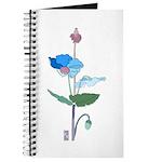 Blue Poppy Drawing Journal