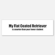 My Flat Coated Retriever is s Bumper Bumper Bumper Sticker