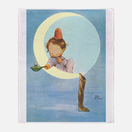 BOY IN THE MOON Throw Blanket