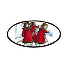 VICTORIAN ICE SKATERS Patches