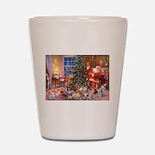 SANTA CLAUS ON CHRISTMAS EVE Shot Glass