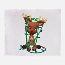 Rudolf - Oh, Deer! Throw Blanket