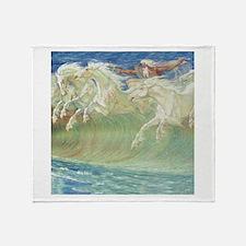 NEPTUNE'S HORSES Throw Blanket