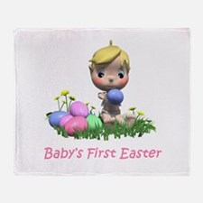BABY'S FIRST EASTER Throw Blanket