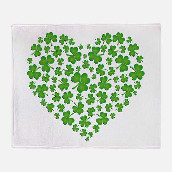 MY IRISH SHAMROCK HEART Throw Blanket
