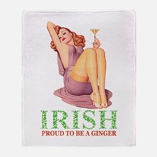 PROUD TO BE A GINGER Throw Blanket