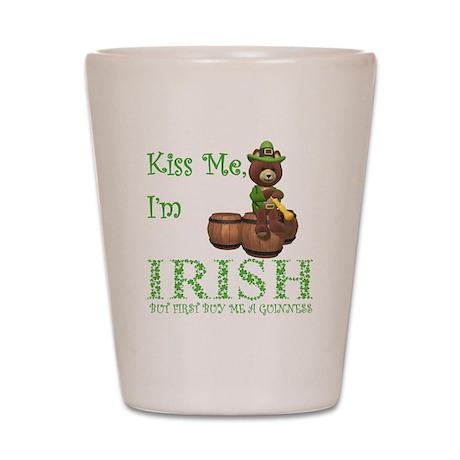 Kiss Me, I'm Irish! Shot Glass
