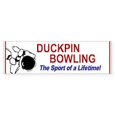 Duckpin Bowling Bumper Car Sticker