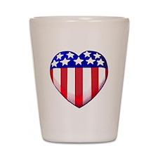 MY AMERICAN HEART Shot Glass