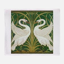 SWANS GREEN Throw Blanket