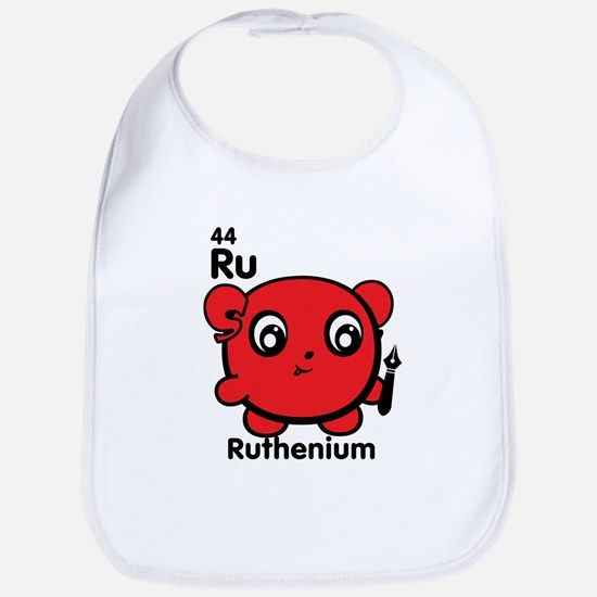 Cute Element Ruthenium Ru Baby Bib