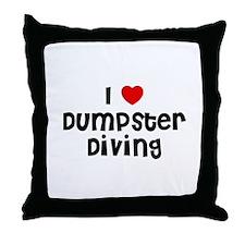 I * Dumpster Diving Throw Pillow
