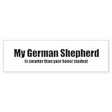 My German Shepherd is smarter Bumper Bumper Sticker