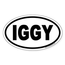 IGGY Euro Oval Decal