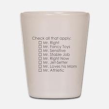 Dating Checklist Shot Glass