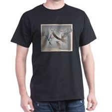 Flower Song Antique Black T-Shirt