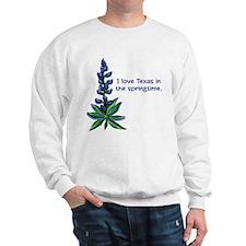 Bluebonnets in the Springtime Sweatshirt