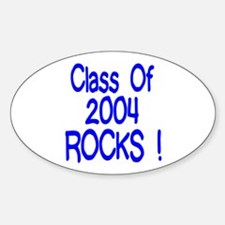2004 blue Oval Decal