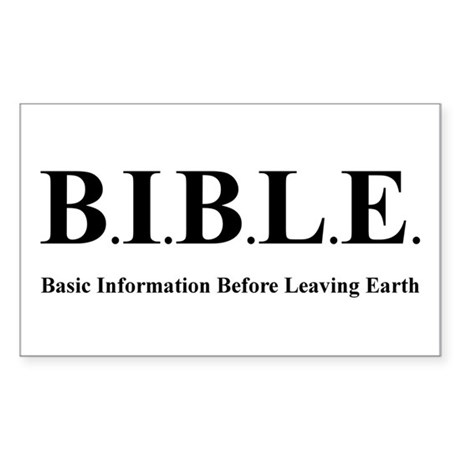 B.I.B.L.E. Rectangle Sticker