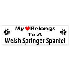 Welsh Springer Spaniel Bumper Bumper Sticker
