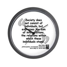 Marx Relations Quote Wall Clock