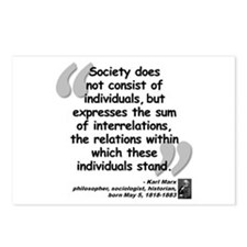 Marx Relations Quote Postcards (Package of 8)