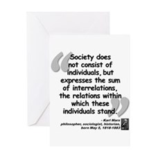 Marx Relations Quote Greeting Card
