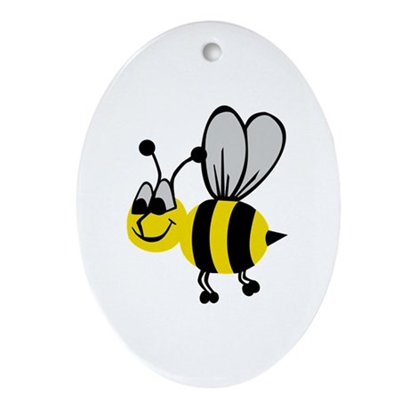 Bee Ornament (Oval)