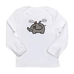 Elephant Long Sleeve Infant T-Shirt