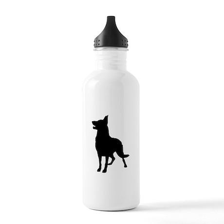 German Shepherd Silhouette Stainless Water Bottle