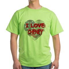 I Love Cheney Flag Heart T-Shirt