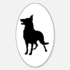 German Shepherd Silhouette Sticker (Oval)