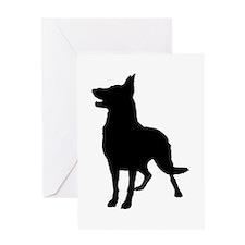 German Shepherd Silhouette Greeting Card