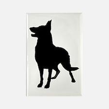 German Shepherd Silhouette Rectangle Magnet (100)