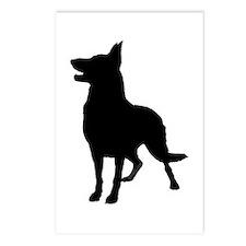 German Shepherd Silhouette Postcards (Package of 8
