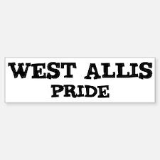 West Allis Pride Bumper Bumper Bumper Sticker