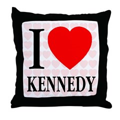 I Love Kennedy Throw Pillow