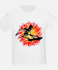 skeleton kickflip T-Shirt