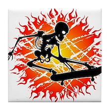 skeleton kickflip Tile Coaster