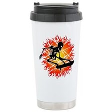 skeleton kickflip Travel Mug