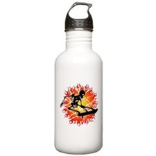 skeleton kickflip Water Bottle