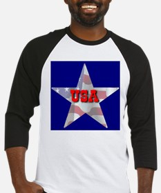 USA FLAG STAR Baseball Jersey