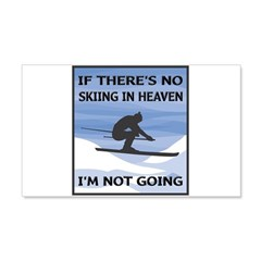 Skiing In Heaven 22x14 Wall Peel